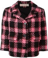 Marni checked cropped jacket