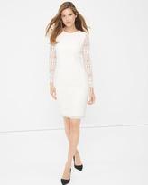 White House Black Market White Lace Sheath Dress