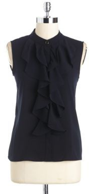 Calvin Klein Sleeveless Ruffled Top