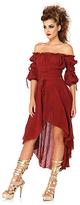 Leg Avenue Burgundy Off-Shoulder Hi-Low Dress - Plus Too