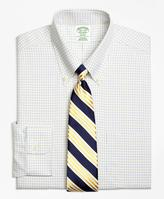 Brooks Brothers Non-Iron Milano Fit Two-Color Tattersall Dress Shirt