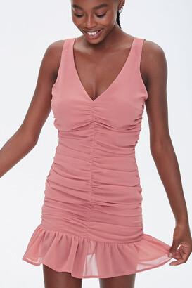 Forever 21 Ruched Chiffon Mini Dress