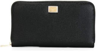 Dolce & Gabbana Zip Around Leather Wallet