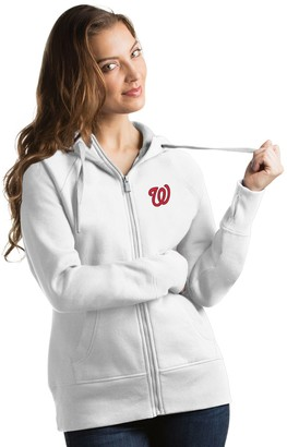 Antigua Women's Washington Nationals Victory Full-Zip Hoodie