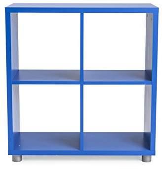 Camilla And Marc Tenzo 1824-028 Square including box Designer Room Divider 2 x 2, Wood, blue, 35 x 73 x 77 cm