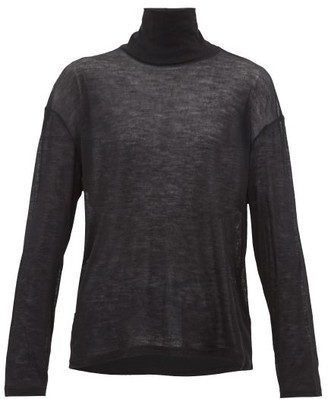 FRANCES DE LOURDES Simon Roll-neck Cashmere-blend Sweater - Black
