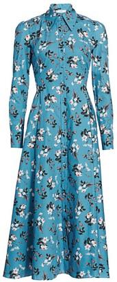 Erdem Josianne Daffodil Ditsy Print Shirt dress