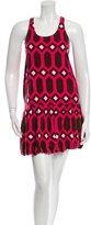 Tibi Printed Drop Waist Dress