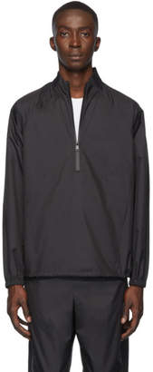3.1 Phillip Lim Black Rib Collar Windbreaker Jacket