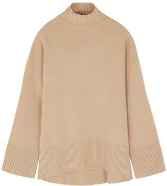 Frame High Low camel cashmere jumper