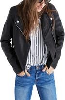 Madewell Women's Washed Leather Moto Jacket