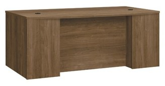 Foundation Breakfront Bow Front Pinnacle Executive Desk HON Color: Pinnacle