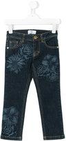 Versace floral print jeans