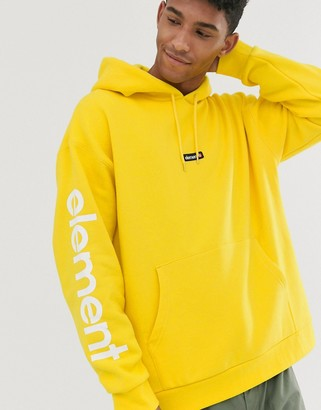 Element Primo Big hoodie with sleeve print in yellow