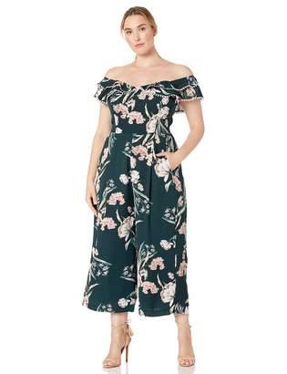 City Chic Women's Apparel Women's Plus Size Jumpsuit Fresh Field XX-Large