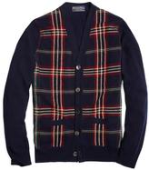 Brooks Brothers Cashmere Signature Tartan Cardigan