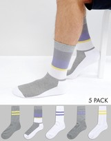 Asos Sports Style Socks 5 Pack