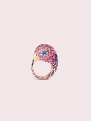 Kate Spade tropical paradise statement parrot ring