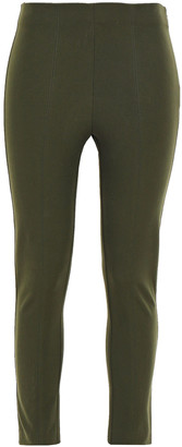 Elie Tahari Jessalyn Cropped Stretch-cotton Twill Skinny Pants