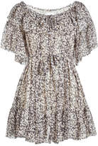 Zimmermann Silk Flutter Sleeve Floral Dress