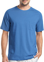 Hanro Alvaro Short-Sleeve Lounge Tee, Blue