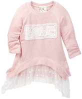 Jenna & Jessie Love Sharkbite Lace Top (Toddler & Little Girls)