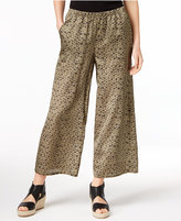 Eileen Fisher Silk & Organic Cotton Cropped Wide-Leg Pants