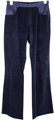 Leonard Navy Silk Trousers