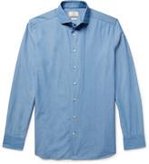 Hackett - Slim-fit Cutaway-collar Textured-cotton Shirt
