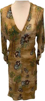 Antik Batik Beige Silk Dresses