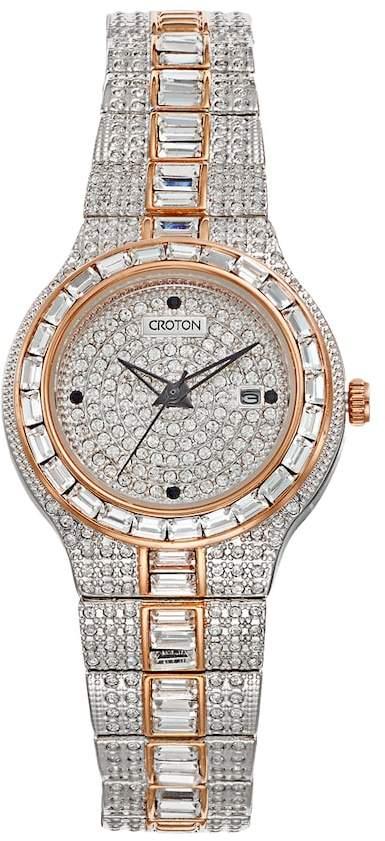 Croton Women's Austrian Crystal Two Tone Watch - CN207540TTPV