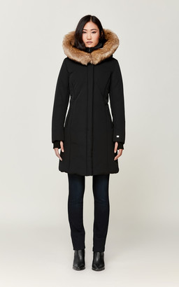Soia & Kyo ESTEE Thermolite coat with faux fur and puffy bib