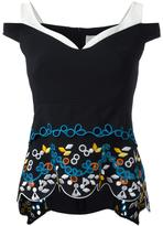 Peter Pilotto 'Cady Embroidered Tier' Top - women - Polyester/Spandex/Elastane/Acetate/Viscose - 8