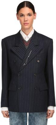 Maison Margiela Pinstripe Wool Blazer