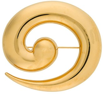 Monet Pre Owned 1980s Swirl Brooch