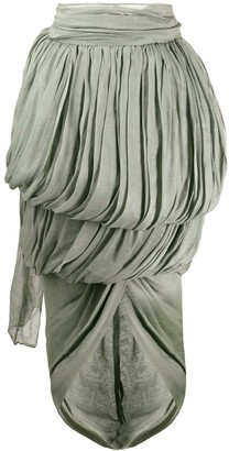 Romeo Gigli Pre-Owned 1990's Draped Midi Skirt