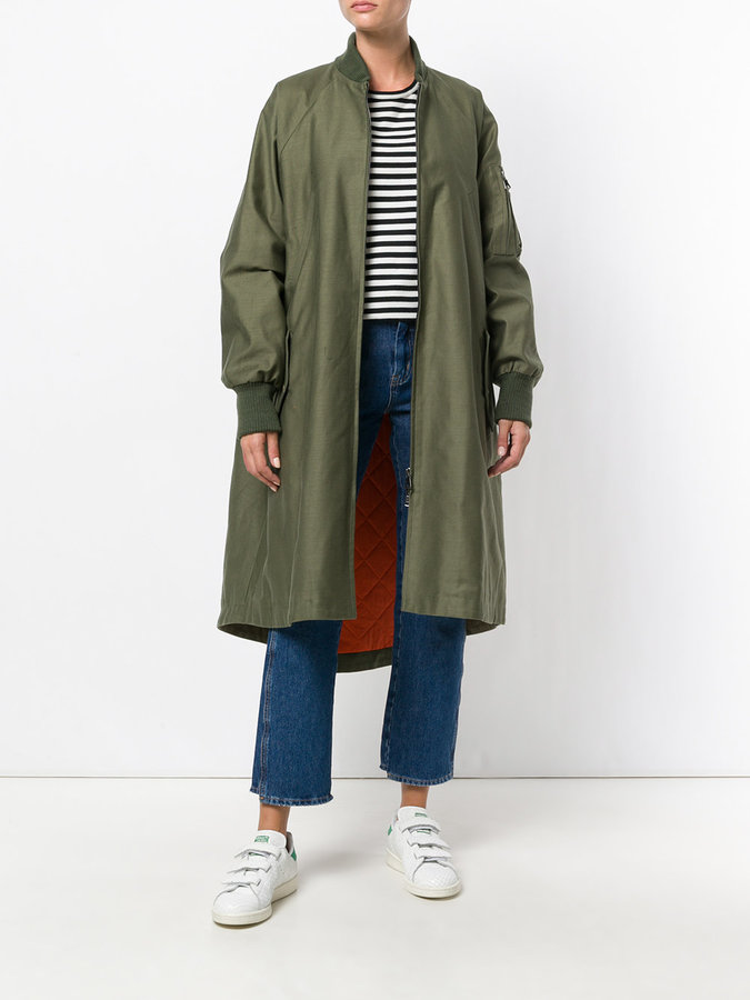 Sea oversized bomber coat