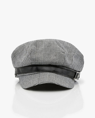 Le Château Glen Check Herringbone Poorboy Hat