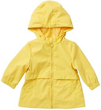 Urban Republic Zip-Up Raincoat (Baby Girls)