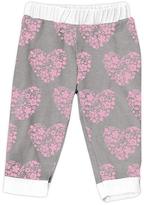 Urban Smalls Light Gray Floral Heart Harem Pants - Infant