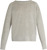 Vince Round-neck cashmere and linen-blend sweater