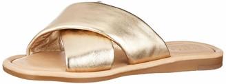 Pieces Women's Psaudrey Leather Sandal Flat