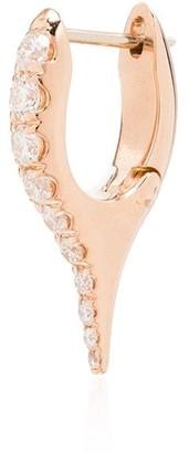 Melissa Kaye Lola 18K rose gold diamond single earring