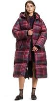 Tommy Hilfiger Long Tartan Down Coat