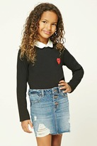 Forever 21 Girls Heart Patch Top (Kids)