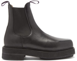 Eytys Ortega Chunky Leather Chelsea Boots - Black