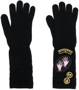 Sonia Rykiel patches gloves - women - Wool - One Size