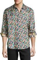 Robert Graham Champagne Toast Long-Sleeve Sport Shirt, Multi