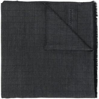 Dolce & Gabbana frayed edge pashmina scarf