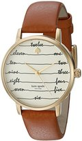 Kate Spade Women's Metro Brown Watch KSW1237